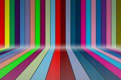 Красочный градуировать, линия радуги Стоковая Фотография