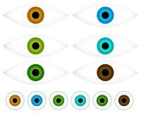 Красочный глаз - значки зрачка - зрение, значок концепции эстетики бесплатная иллюстрация