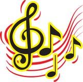 Красочный дизайн знака музыки Стоковые Изображения