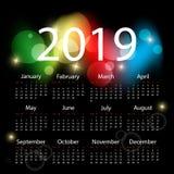 Красочный дизайн календаря иллюстрация штока