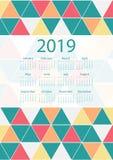Красочный дизайн календаря иллюстрация вектора