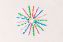 Красочный день рождения миражирует ручку Стоковая Фотография