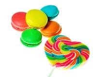 Красочный десерт macaroons Стоковая Фотография RF