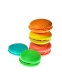 Красочный десерт macaroons Стоковое Изображение