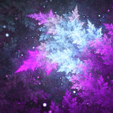 Красочный заморозок фрактали иллюстрация вектора