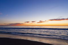 Красочный заход солнца на пляже 7 океана Стоковое Фото