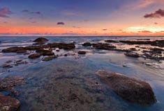 Красочный заход солнца пляжа Nai Harn Стоковое Фото