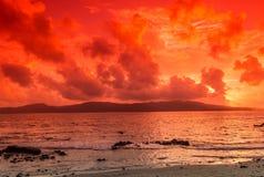 Красочный заход солнца Стоковая Фотография