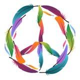 Красочный знак мира сделанный пер pacific иллюстрация штока