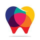 Красочный значок зуба Иллюстрация вектора