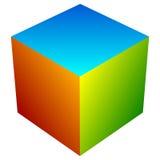 Красочный значок куба Современные, яркие родовой значок/штабелированный логотип w Стоковые Изображения RF
