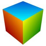 Красочный значок куба Современные, яркие родовой значок/штабелированный логотип w Стоковые Изображения