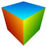 Красочный значок куба Современные, яркие родовой значок/штабелированный логотип w Стоковое фото RF