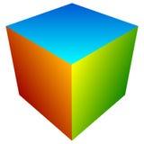 Красочный значок куба Современные, яркие родовой значок/штабелированный логотип w Стоковые Фото