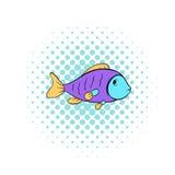 Красочный значок рыб, стиль комиксов Стоковая Фотография