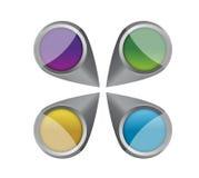 Красочный дизайн иллюстрации указателей Стоковое Фото