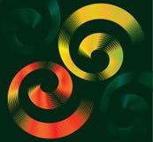 Красочный дизайн спиральных элементов с космосом для текста бесплатная иллюстрация