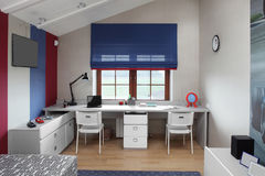 Красочный интерьер комнаты детей Стоковые Фото