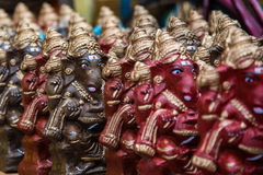 Красочный индусский бог назвал Ganapati для надувательства в рынке на Chidambaram, Tamilnadu, Индии Стоковая Фотография