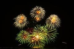 Красочный дисплей фейерверков Стоковая Фотография