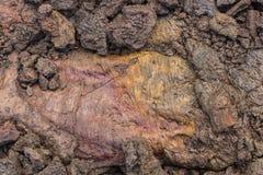 Красочный и текстурированный утес лавы Стоковая Фотография