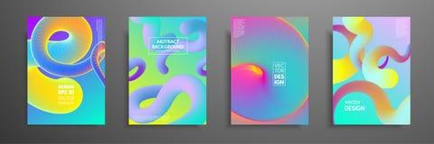 Красочный комплект дизайна крышек Современный дизайн шаблона крышек Применимый для крышек дизайна, pentation, кассет, рогулек бесплатная иллюстрация