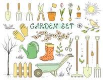 Красочный комплект садовых инструментов весны Стоковая Фотография