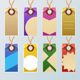 Красочный комплект бирки иллюстрация штока