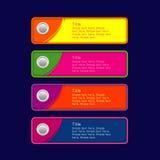 Красочный комплект застегивает желтую розовую оранжевую синь Стоковое Изображение