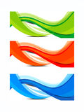 Красочный комплект знамени волны Стоковые Изображения