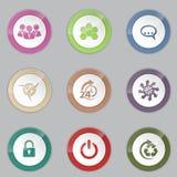 Красочный комплект кнопки 3d Стоковые Изображения RF