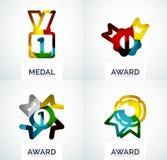 Красочный комплект логотипа дела награды Стоковые Изображения