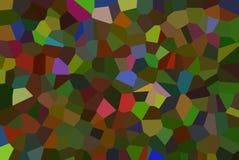 Красочный конспект кристалла мозаики кроет картину черепицей Стоковое Фото