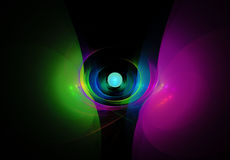 Красочный конспект на черной предпосылке Стоковые Изображения RF