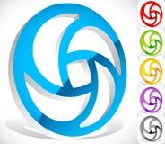 Красочный круговой логотип для концепций технологии с vers контура бесплатная иллюстрация