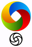 Красочный круговой логотип для концепций технологии с vers контура иллюстрация вектора