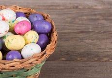 Красочный крупный план конфеты пасхального яйца Стоковое Фото