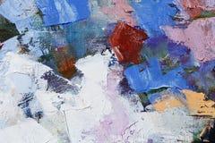 Красочный крупный план текстуры краски масла, красивое искусство предпосылки Стоковое Изображение