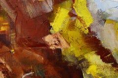 Красочный крупный план текстуры краски масла, красивое искусство предпосылки Стоковые Фотографии RF