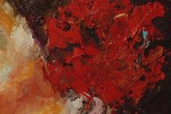Красочный крупный план текстуры краски масла, красивое искусство предпосылки Стоковые Фото