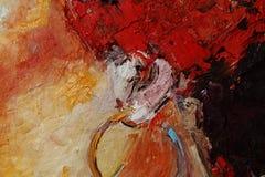 Красочный крупный план текстуры краски масла, красивое искусство предпосылки Стоковая Фотография RF