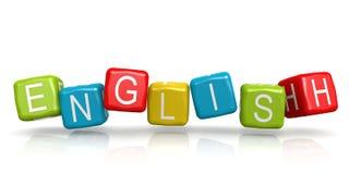 Красочный куб с английским словом бесплатная иллюстрация
