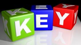 Красочный ключ кубов Стоковое Изображение RF