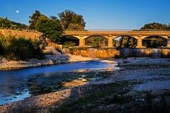 Красочный ландшафт моста Стоковая Фотография