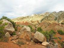 Красочный ландшафт национального монумента динозавра Стоковые Изображения