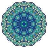 Красочный, мандала вектора в голубых тонах Стоковое Фото