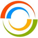 Красочный мотив круга с двухраздельными кругами Родовой циркуляр ic Стоковое Фото