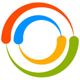 Красочный мотив круга с двухраздельными кругами Родовой циркуляр ic Стоковые Фото
