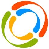 Красочный мотив круга с двухраздельными кругами Родовой циркуляр ic Стоковая Фотография RF