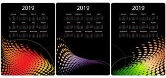 Красочный набор дизайна календаря иллюстрация штока